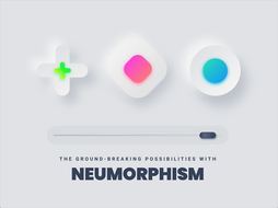 Neumorphism idea with geometric shapes